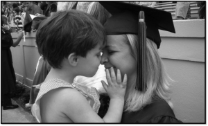Cara with her son at graduation